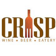 This is the restaurant logo for CRISP wine-beer-eatery