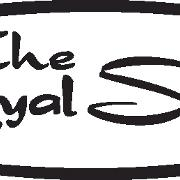 This is the restaurant logo for The Royal Scam