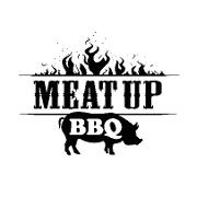 This is the restaurant logo for Meat Up BBQ