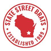 This is the restaurant logo for State Street Brats