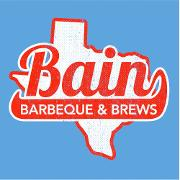 This is the restaurant logo for Bain BBQ