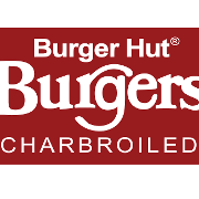 This is the restaurant logo for Burger Hut Burgers