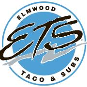 This is the restaurant logo for Elmwood Taco & Subs