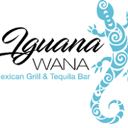 This is the restaurant logo for Iguana Wana Mexican Grill & Tequila Bar
