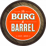 This is the restaurant logo for BURG & BARREL