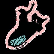 This is the restaurant logo for Strange Taco Bar
