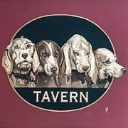 This is the restaurant logo for Four Dogs Tavern