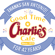 This is the restaurant logo for Good Time Charlie's Cafe and Bar