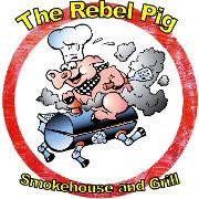 This is the restaurant logo for The Rebel Pig