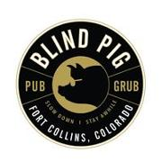 This is the restaurant logo for Blind Pig Pub