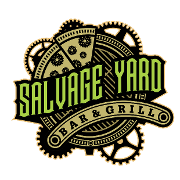 This is the restaurant logo for Salvage Yard Bar and Grill