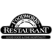 This is the restaurant logo for Food Works Restaurant