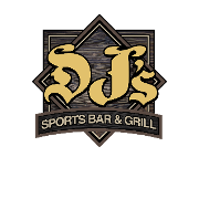 This is the restaurant logo for DJ's Sports Bar & Grill