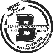 This is the restaurant logo for Breakers Topinabee