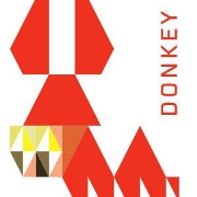 This is the restaurant logo for Donkey Taqueria