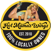This is the restaurant logo for Hot Mama's Wings