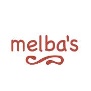 This is the restaurant logo for Melba's Restaurant