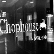 This is the restaurant logo for The Chophouse on Bankhead