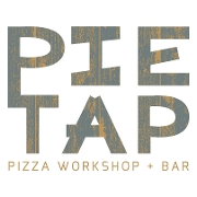This is the restaurant logo for Pie Tap Pizza Workshop + Bar