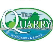 This is the restaurant logo for The Quarry Wine Garden