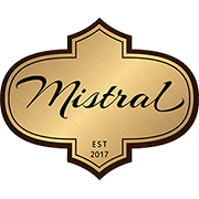 This is the restaurant logo for Mistral