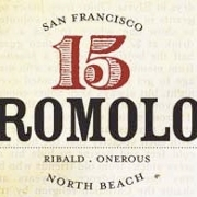 This is the restaurant logo for 15 Romolo