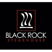 This is the restaurant logo for Black Rock Steakhouse