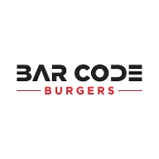This is the restaurant logo for Bar Code Burgers
