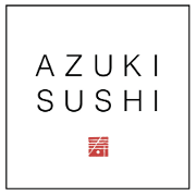This is the restaurant logo for Azuki Sushi