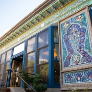 This is the restaurant logo for The Boulder Dushanbe Teahouse