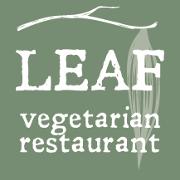 This is the restaurant logo for Leaf Vegetarian Restaurant