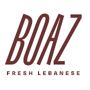 This is the restaurant logo for Boaz Fresh Lebanese