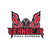 This is the restaurant logo for Grande Jr. Pizza Express