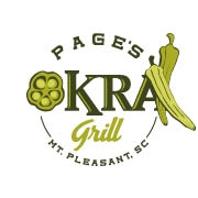 This is the restaurant logo for Page's Okra Grill