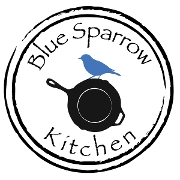 This is the restaurant logo for BLUE SPARROW KITCHEN