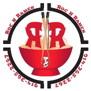 This is the restaurant logo for Roc N Ramen