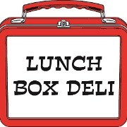This is the restaurant logo for Lunch Box Deli