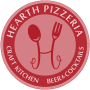 This is the restaurant logo for Hearth Pizzeria
