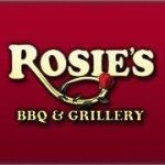 This is the restaurant logo for Rosie's BBQ & Grillery