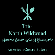 This is the restaurant logo for Trio North Wildwood