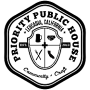 This is the restaurant logo for Priority Public House