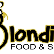 This is the restaurant logo for Blondie's Food & Spirits