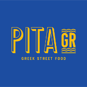 This is the restaurant logo for Pita GR.