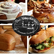 This is the restaurant logo for Thee Abbey Kitchen