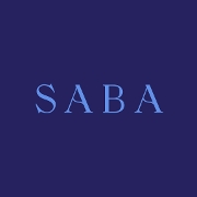 This is the restaurant logo for Saba