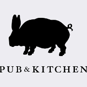 This is the restaurant logo for Pub & Kitchen