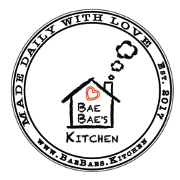 This is the restaurant logo for Bae Bae's Kitchen