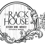 This is the restaurant logo for The Rack House Kitchen Wine Whiskey