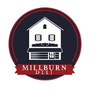 This is the restaurant logo for Millburn Deli - Millburn