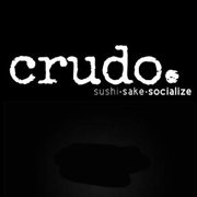 This is the restaurant logo for Crudo